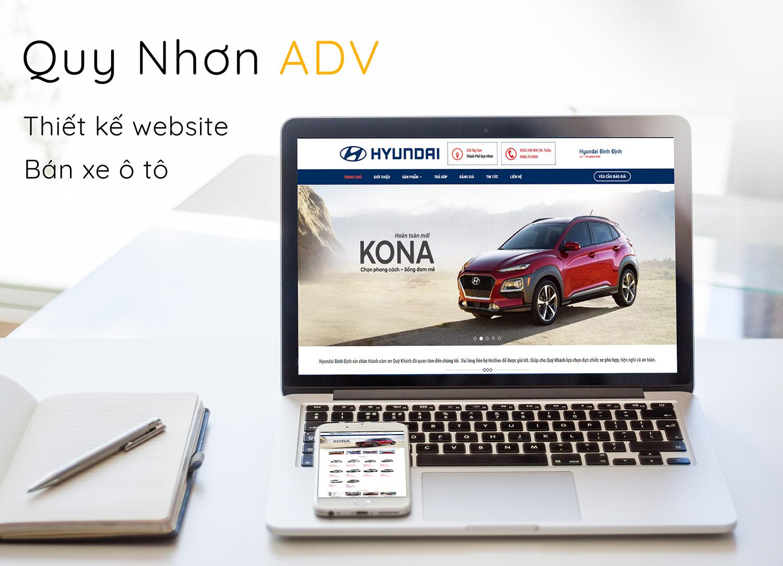 Thiết kế web ô tô Quy Nhơn nâng cao chất lượng doanh nghiệp