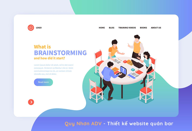 Thiết kế web quán bar Quy Nhơn đẹp ấn tượng thu hút khách hàng