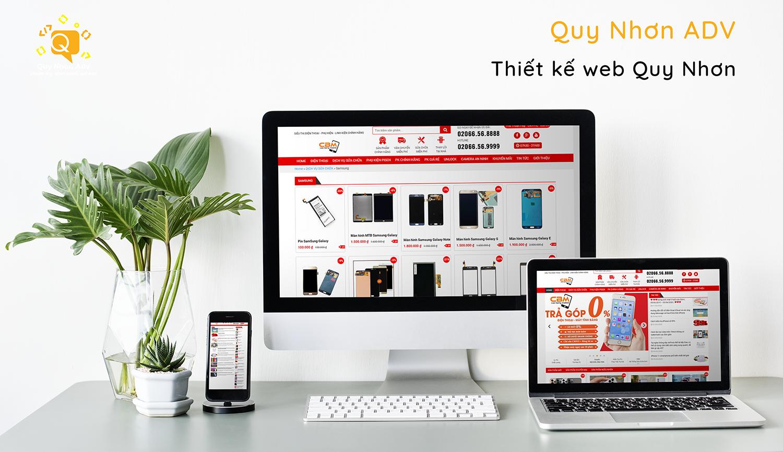 Thiết kế website cửa hàng điện thoại Quy Nhơn giá tốt nhất