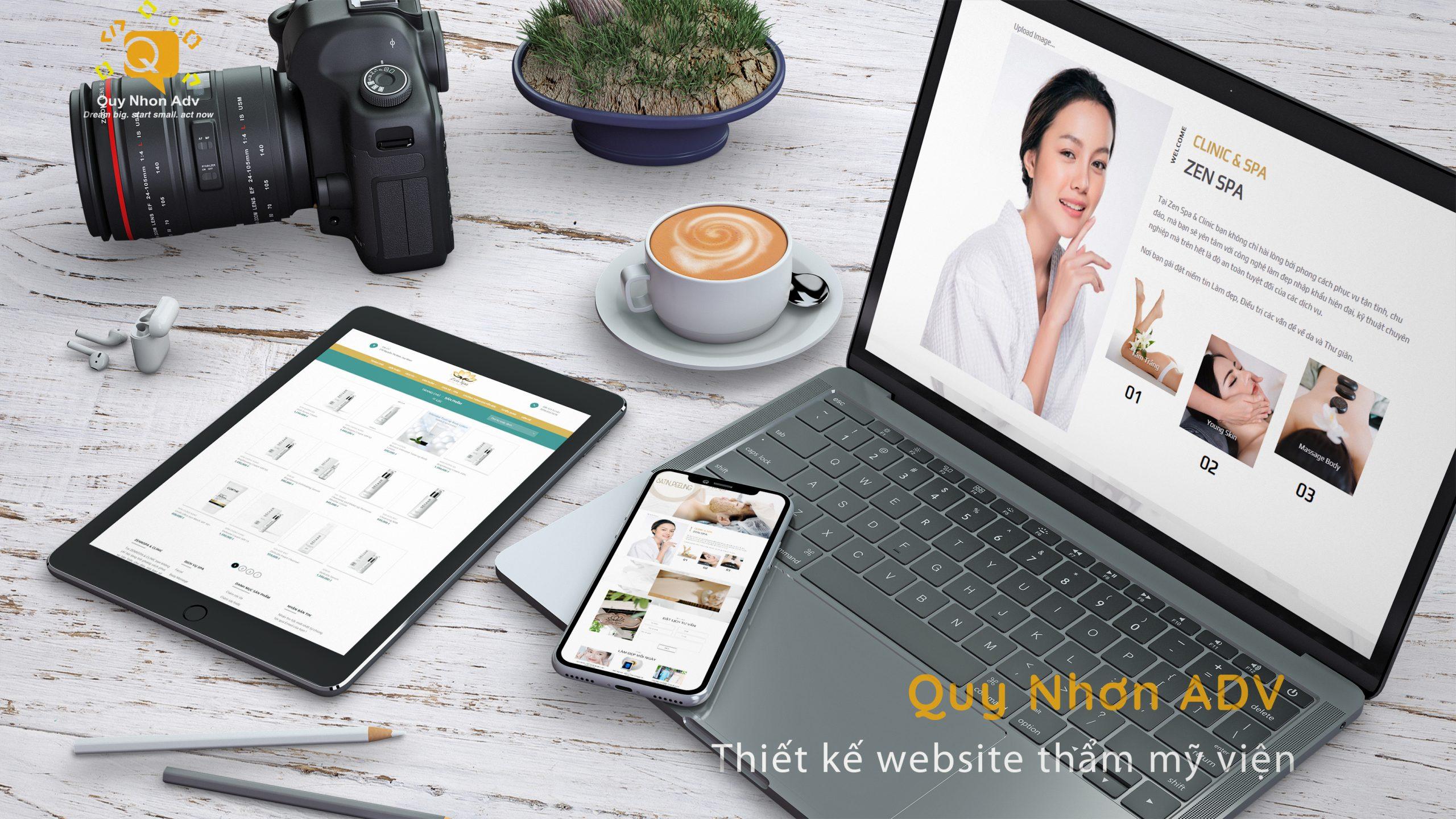 Thiết kế website thẩm mỹ viện Quy Nhơn