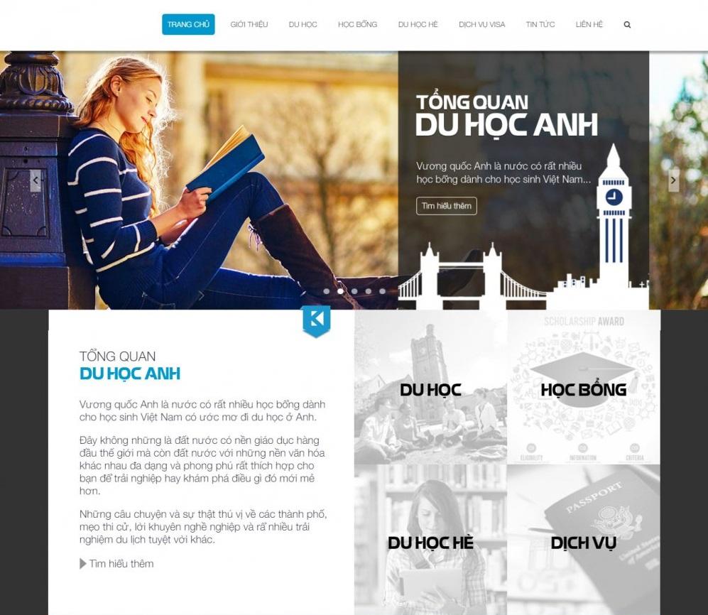 thiết kế web tư vấn du học quy nhơn